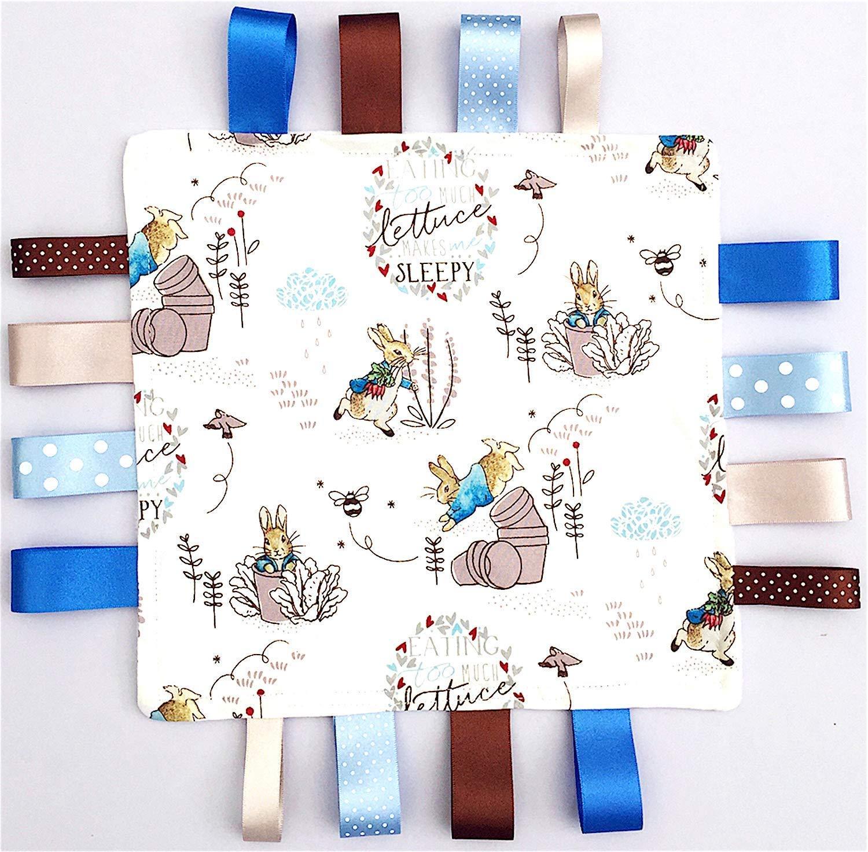 gift christening birth christmas Personalised Baby Soft Satin Teddy Comforter