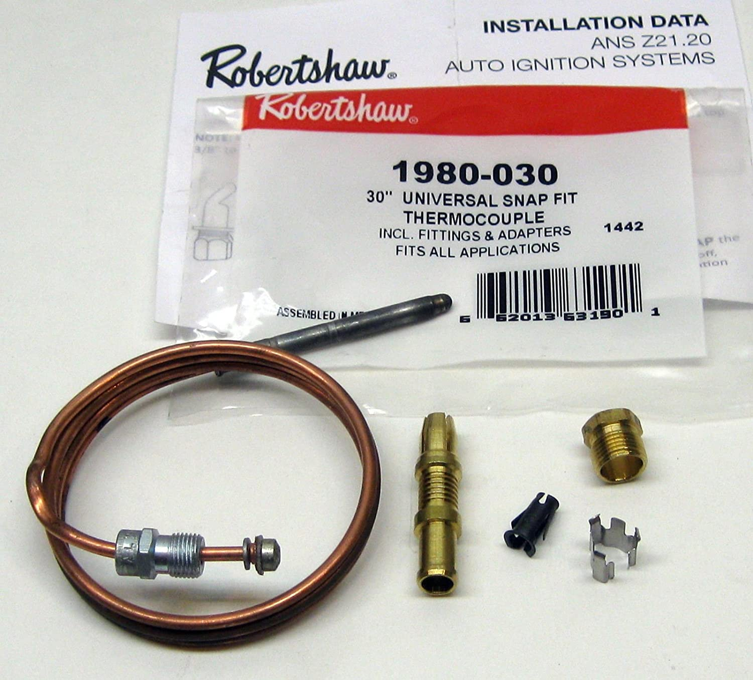 Repl Thermocouple Snap Fit 30 in