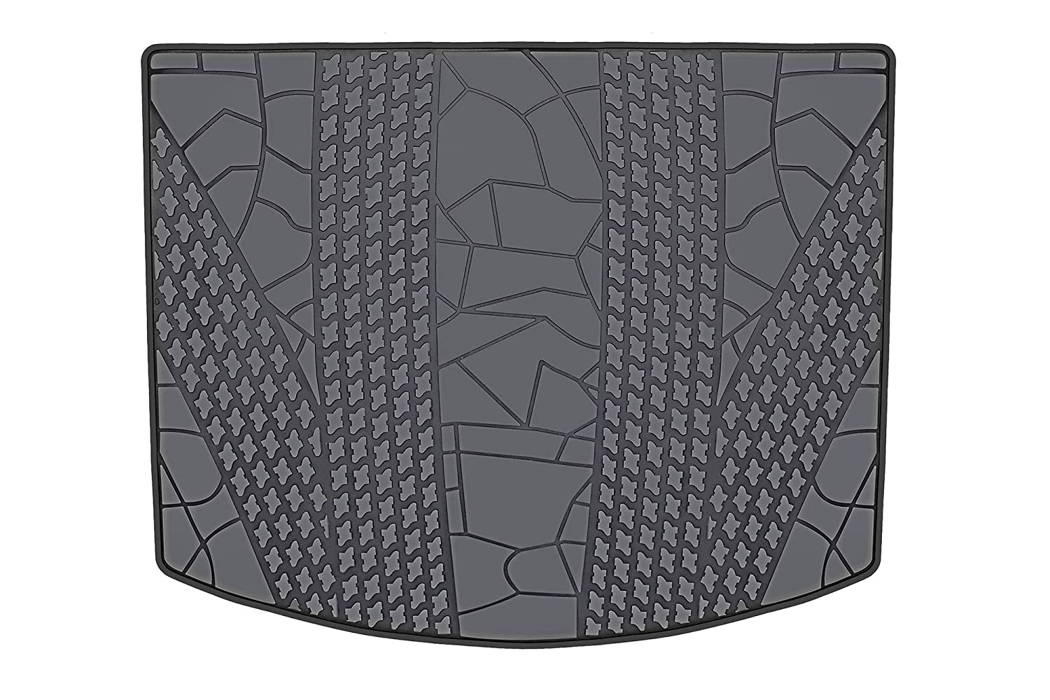 Heavy Duty /& Odorless HD-Mart Cargo Liners Custom Fit Ford Escape 2012-2013-2014-2015-2016-2017-2018-2019 Trunk Mats Black Rubber for All Weather