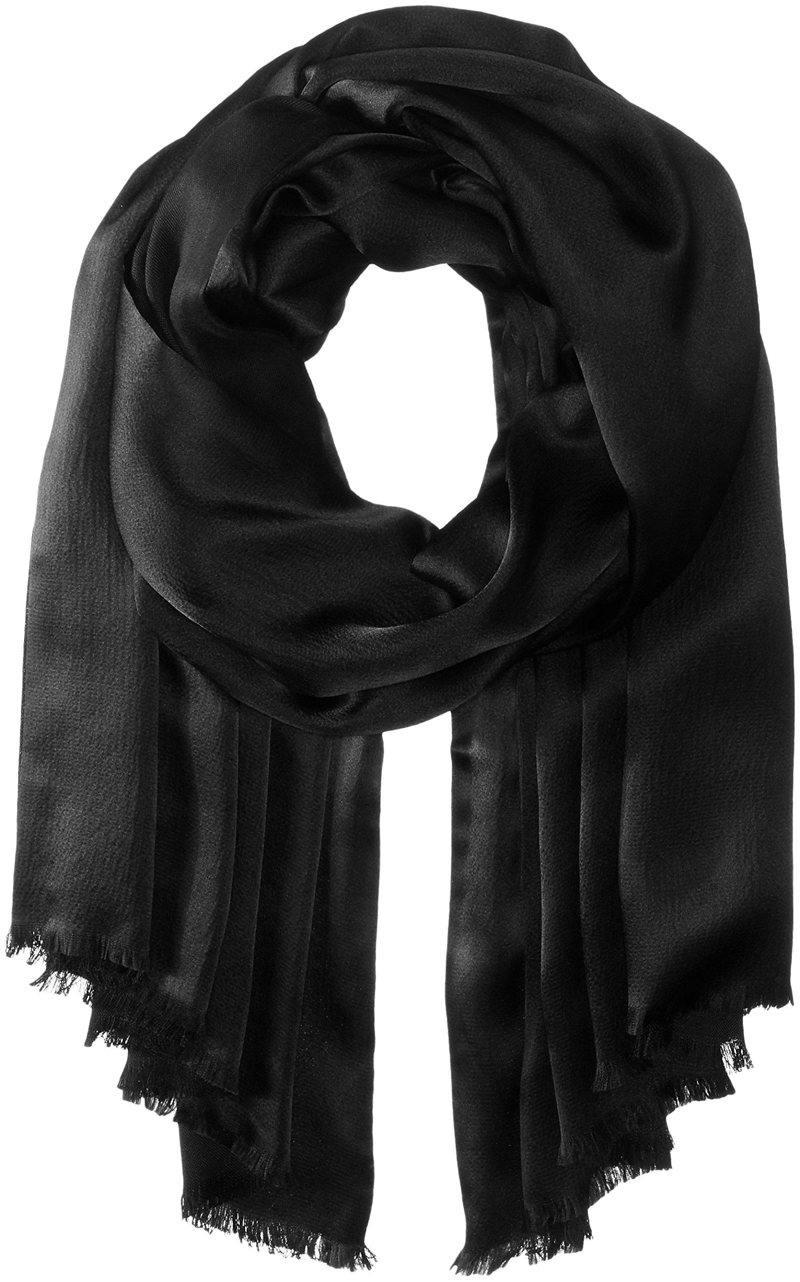 Echo Women's Hammered Silk Evening Wrap, Black, One Size