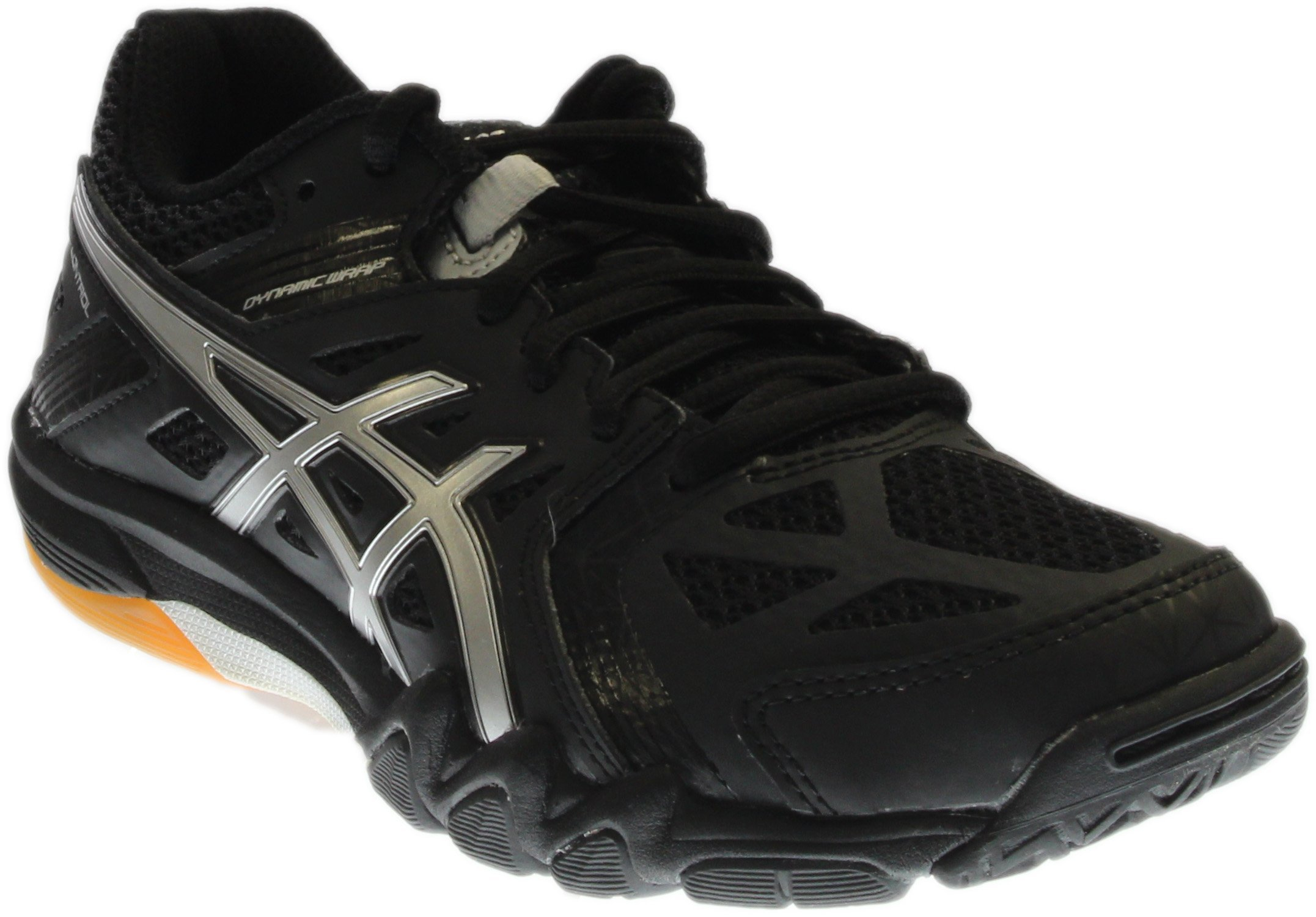 ASICS Women's Gel Court Control Volleyball Shoe, Black/Silver, 7.5 M US