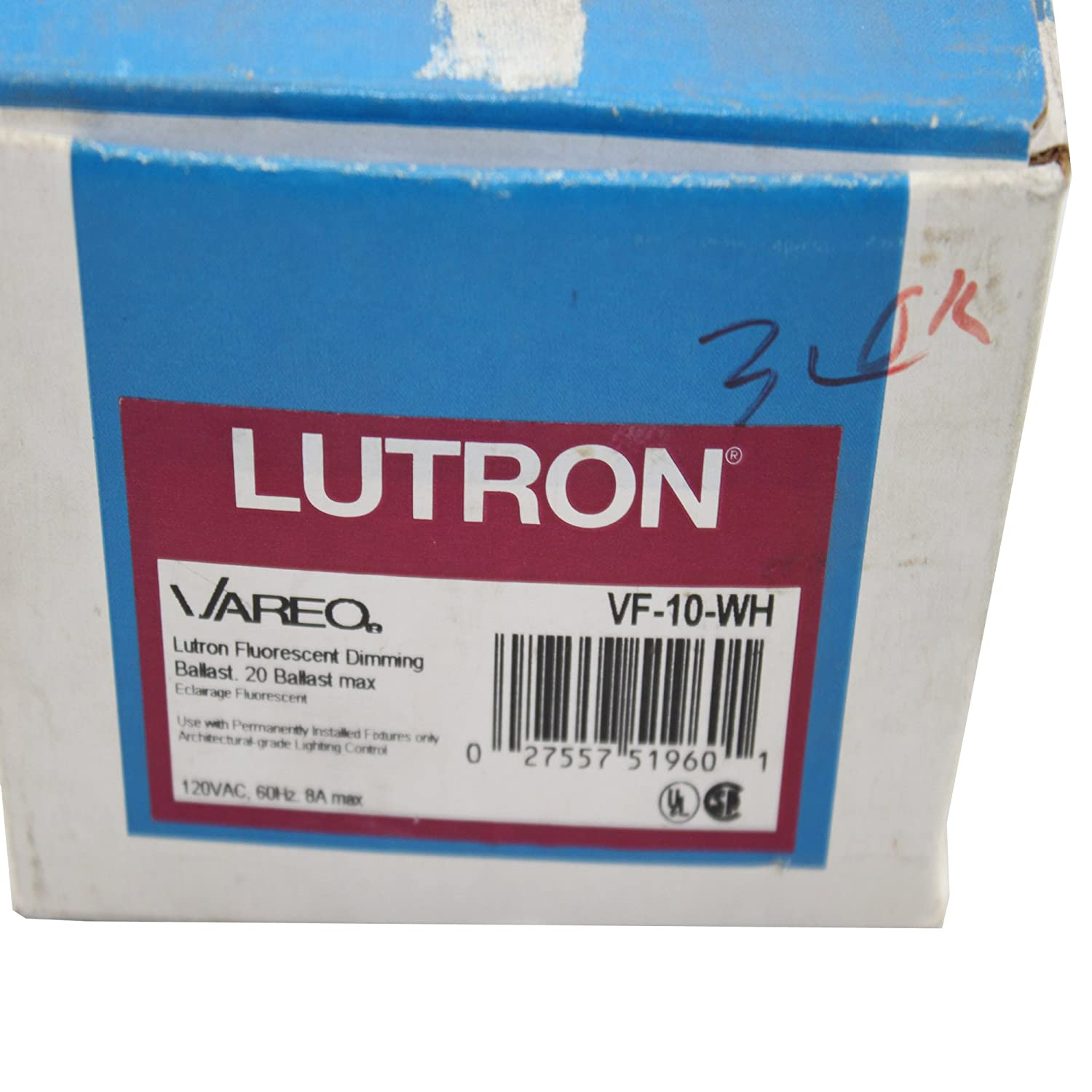 Lutron Vf-10-Wh Vareo 120V / 8A Fluorescent 3-Wire / Hi-Lume Led ...