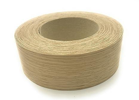 Edge Supply Brand White Oak 1 1 2 X 50 Roll Preglued Wood Veneer Edge Banding Iron On With Hot Melt Adhesive Flexible Wood Tape Sanded To