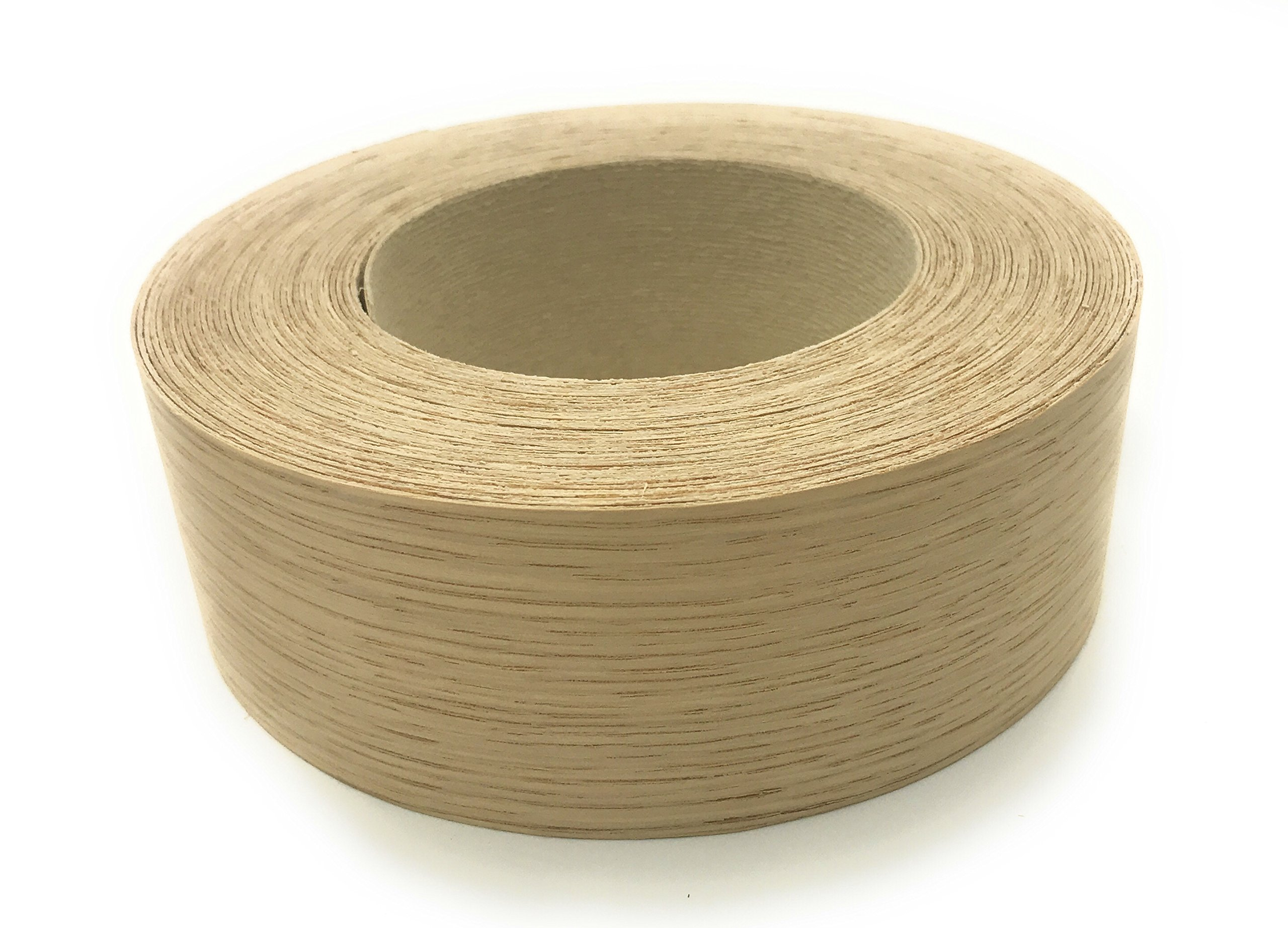 White Oak 1 1/2'' X 50' Roll, Wood Veneer Edgebanding Preglued - Flexible Wood Tape, Easy Application Iron On with Hot Melt Adhesive. Smooth Sanded Finish. Made in USA by Edge Supply
