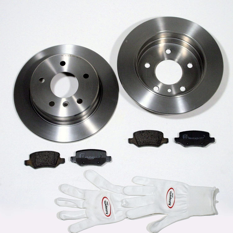 Autoparts-Online Set 60015511 Bremsscheiben 302 mm Bremsen Bremsbel/äge f/ür hinten die Hinterachse