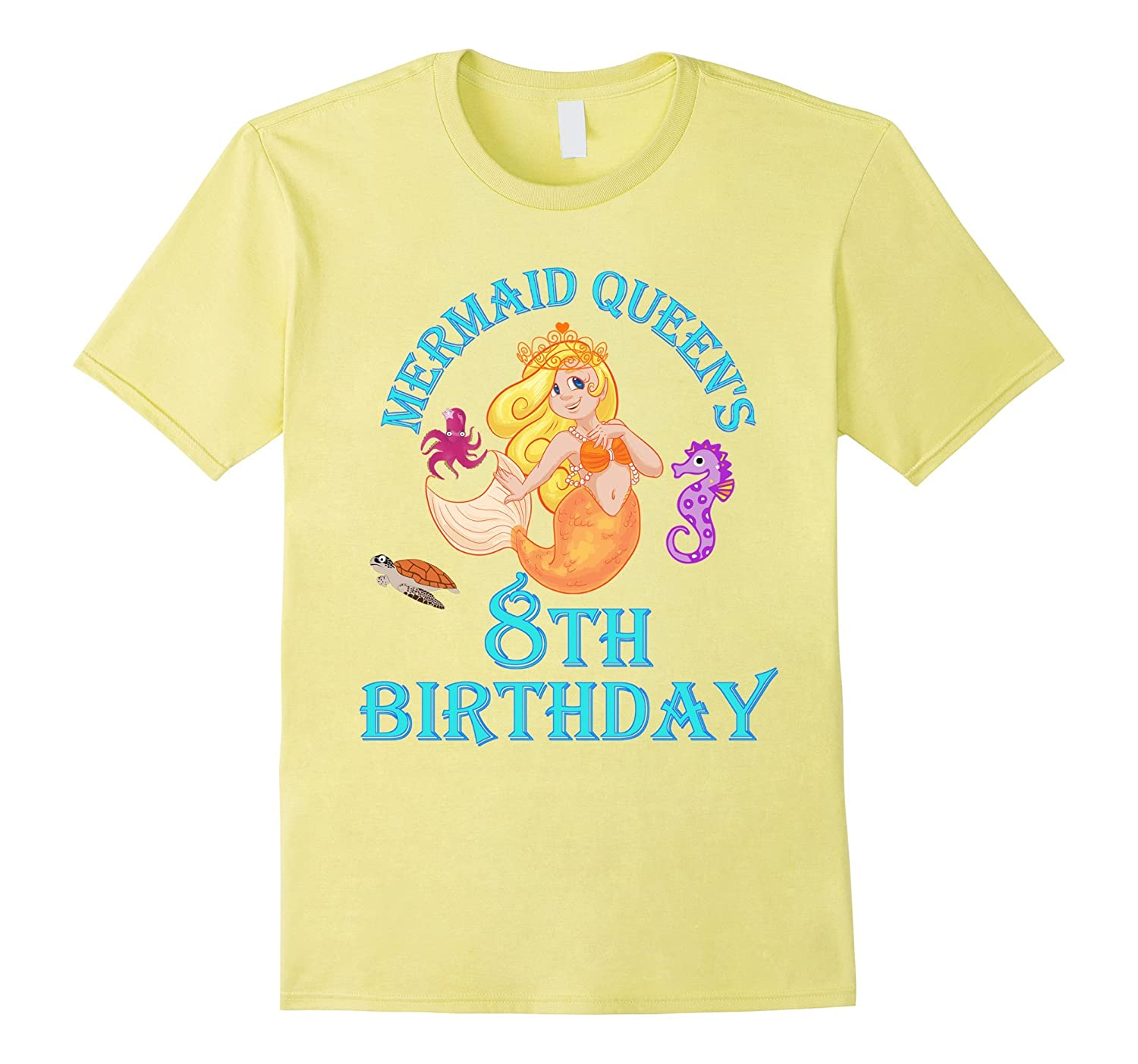 Mermaid Queens 8th Eighth Girls Birthday Kids Party Shirt CD