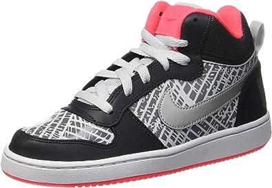 Nike Court Borough Mid PRNT GG, Zapatos de Baloncesto para Niñas ...
