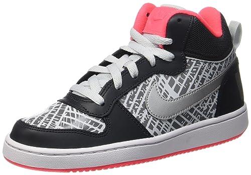 Nike Court Borough Mid PRNT GG, Zapatos de Baloncesto para Niñas