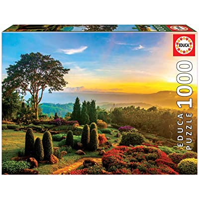 Educa Borras 17968 1000 Beautiful Garden Puzzle, Multi-Colour: Toys & Games