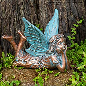 BRECK'S Relaxing Fairy Statue - Add a Wonderful and Whimsical bit of Relaxation to Your Garden!