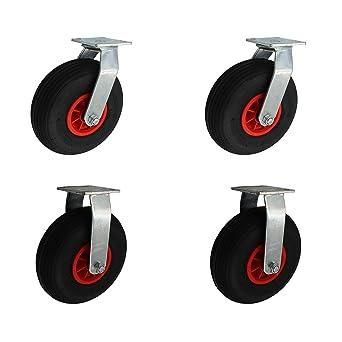 ASR Juego de ruedas® 260 mm Aire bereifte ruedas de transporte 2 unidades como Rueda