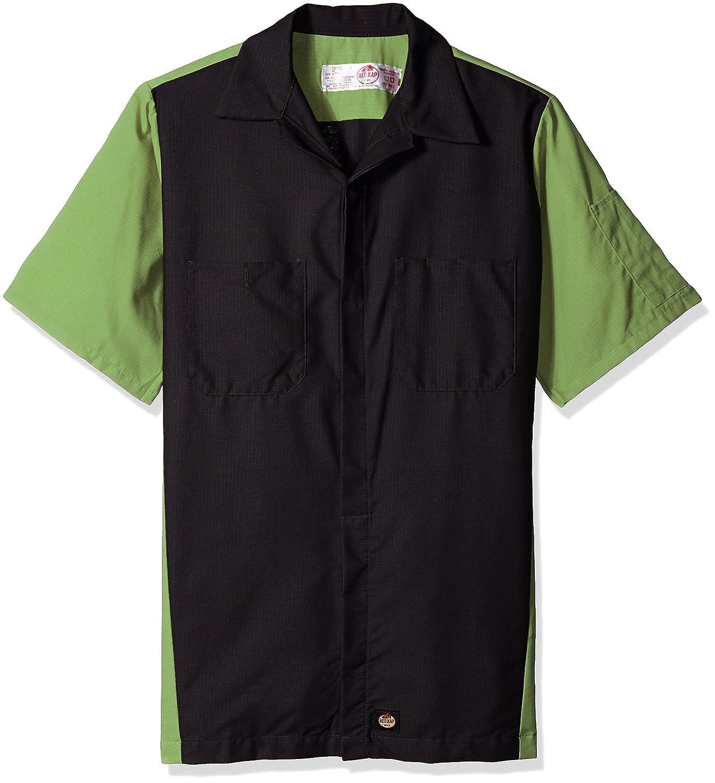 Red Kap Mens Rip-Stop Short-Sleeve Crew Shirt