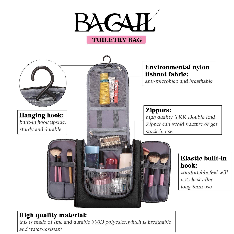 Bagail Men & Women Toiletry Bag For Makeup Cosmetic