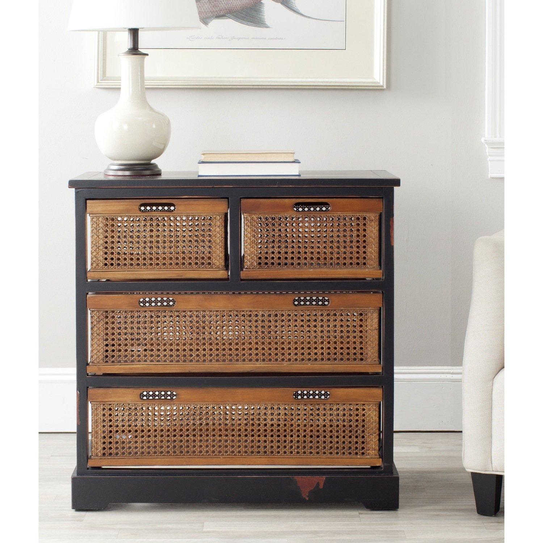 Safavieh American Homes Collection Jackson 4-Drawer Storage Unit, Black