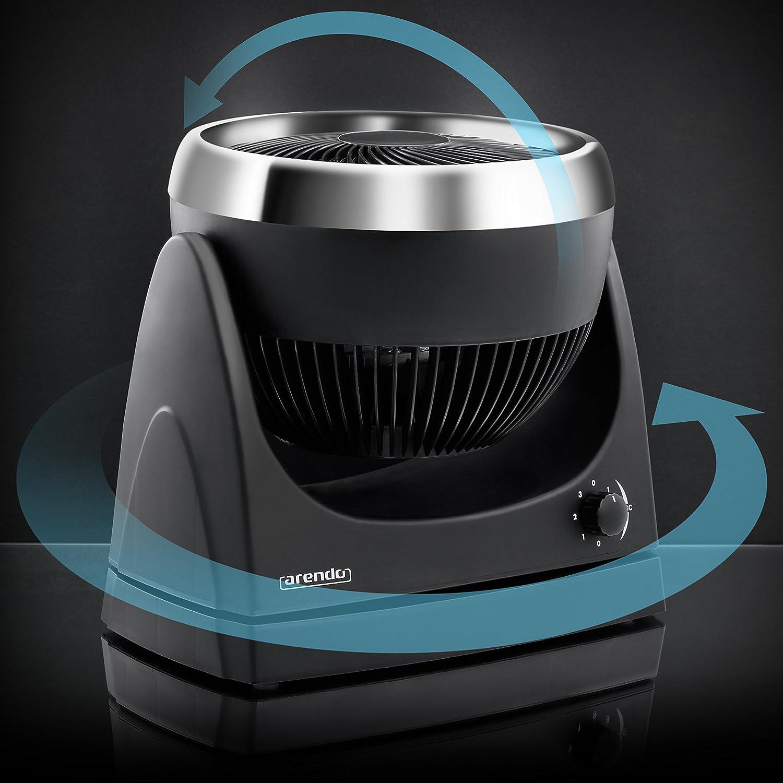 Ping-ventilador Arendo/la función de oscilación aproximadamente 100 ° (asa de soporte) | Ventilador de pie 25 cm (posibilidad de montaje en pared) ...