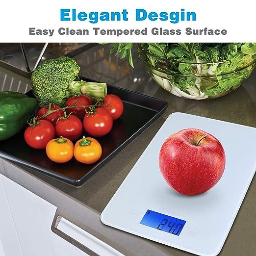 avlt-power inalámbrico Smart alimentos escala Digital báscula de cocina con calculadora nutricional aplicación - auto-updates de USDA Base de datos para una ...