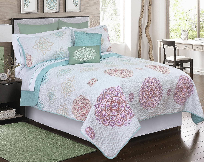 Amazon Com Safdie 60111 2t 03 Twin Macy Quilt Set 2 Piece Home Kitchen