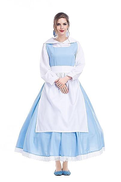 xiemushop Disfraz de Princesa para Mujer Cosplay Vestido de Criada Traje Medieval Halloween Carnaval