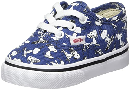 Vans Authentic, Zapatillas de Entrenamiento para Bebés, Azul (Snoopy/Skating Peanuts), 23.5 EU: Amazon.es: Zapatos y complementos