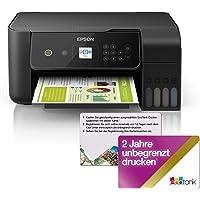 Epson EcoTank ET-2720 - Impresora multifunción 3 en 1 (Impresora, escáner, fotocopiadora, DIN A4, WiFi, USB 2.0…