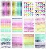 Carpe Diem A5 Sticker Tablet Numbers, Multicolor