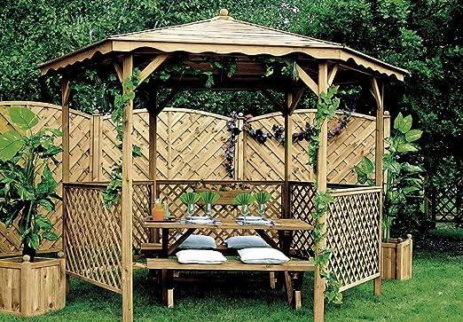 Cenador de jardín (Pin Lora 345 x 245 cm: Amazon.es: Jardín