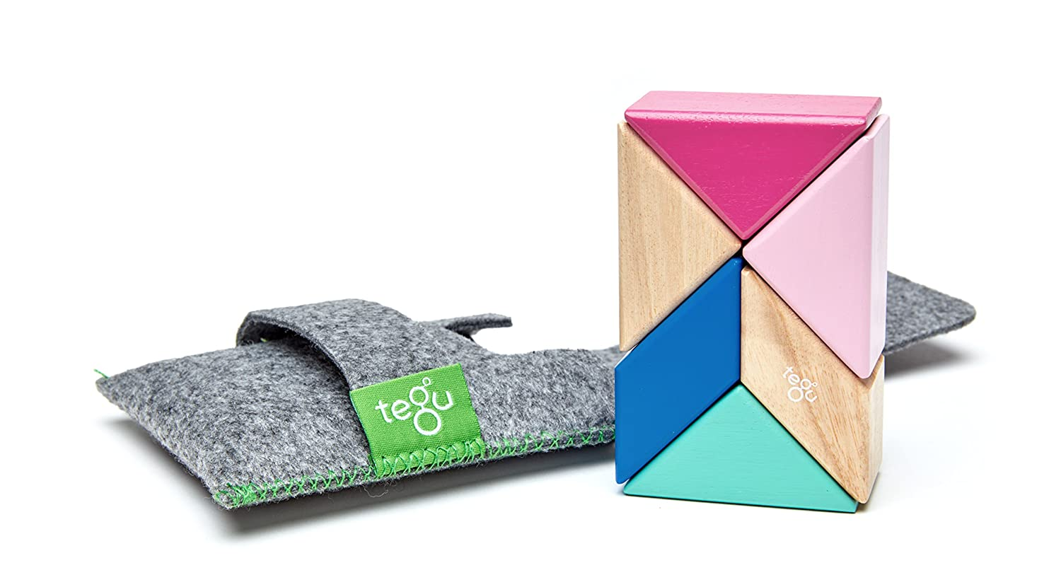 6 Piece Tegu Pocket Pouch Prism Magnetic Wooden Block Set, Nelson P-11-048-SJG