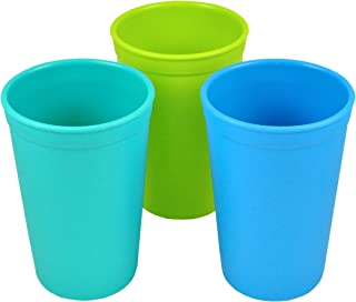 product image for Re-Play 3pk - 10oz. Drinking Cups | Made in USA from Eco Friendly Recycled Milk Jugs - Virtually Indestructible | Aqua, Sky Blue, Lime Green | Under the Sea