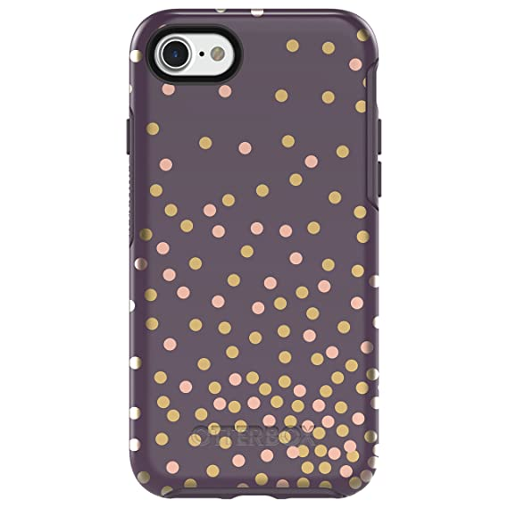 watch ab627 54b72 OtterBox SYMMETRY SERIES Case for iPhone 8 & iPhone 7 (NOT Plus) - Retail  Packaging - CONFETTI (PURPLE/CONFETTI GRAPHIC)