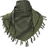 TACVASEN タクティカル アラブスカーフ ミリタリー アフガンストール サバゲー チェック柄 マフラー 綿100% 男女兼用