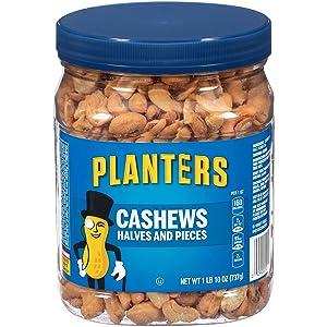 Planters Cashew Halves & Pieces (1.10lb Canister)