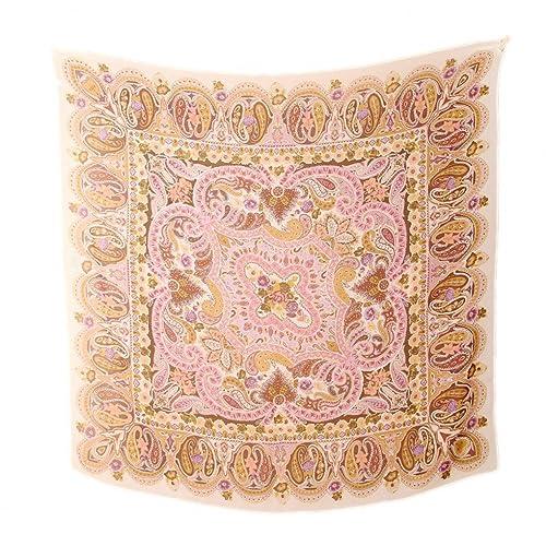 Prettystern - 110m Extra Size Paisley Stampa una sciarpa di seta leggermente delicato - colore selez...