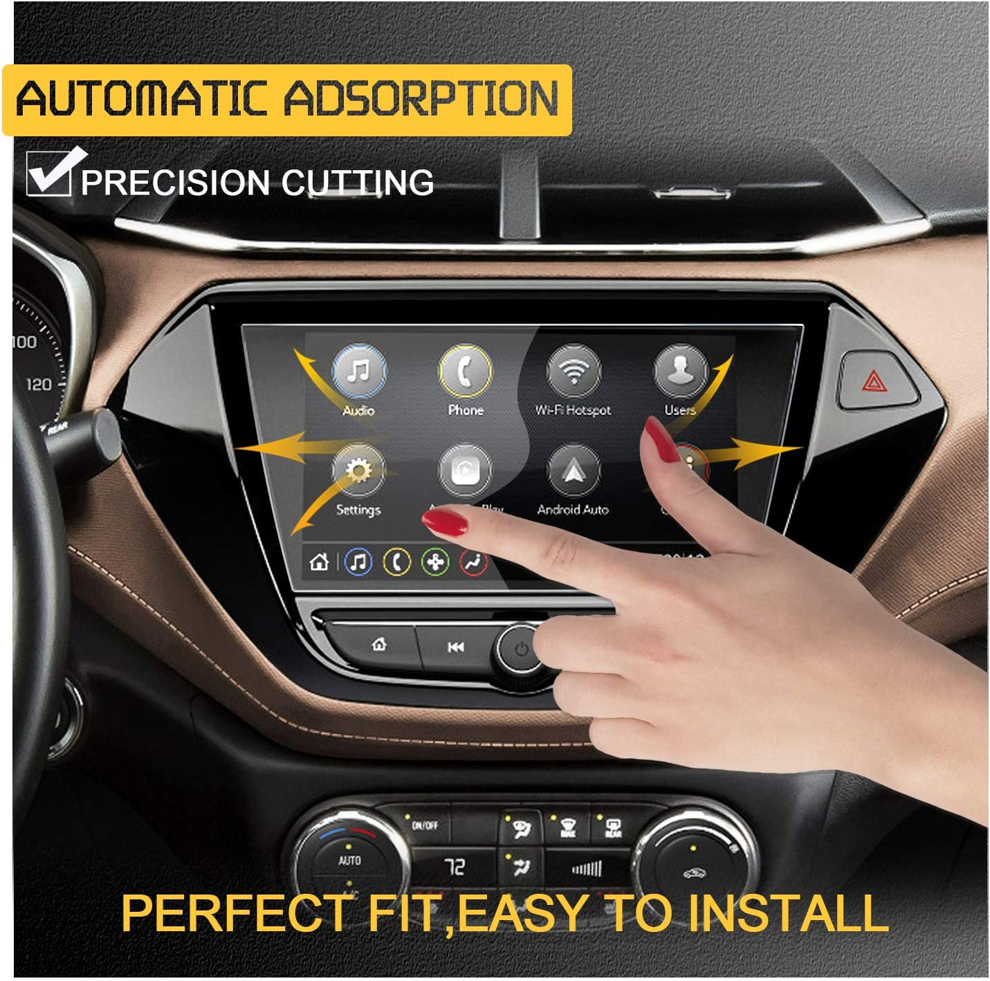 RUIYA Center Touch Control Screen Protector for 2021 Trailblazer Infotainment 3 System 7INCH Car Navigation Tempered Glass 9H Anti-Scratch and Shock Resistant Touch Screen Protector