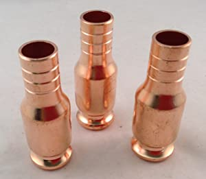 Set of 3 Brass Nozzle/Fittings For Jiggle Siphon Super Simple Siphon