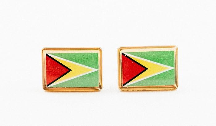 2532a9ee149e Amazon.com: Guyana Flag Cufflinks: Handmade