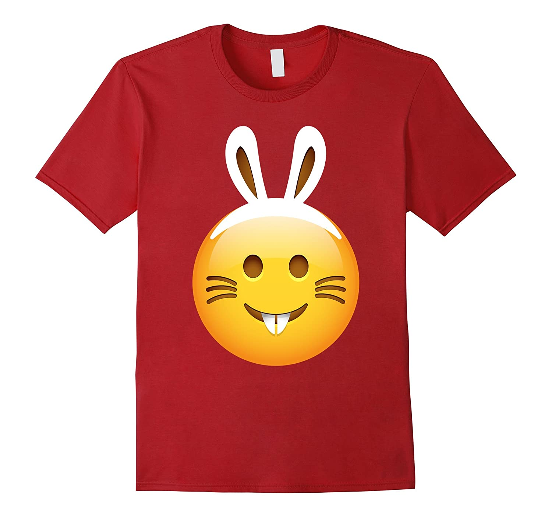 Classic Emoji Easter Bunny White Ears Happy Funny TShirt-CD