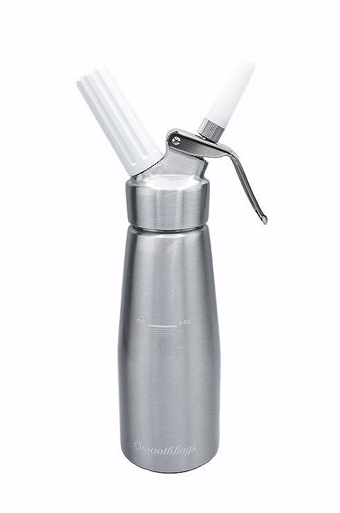 Sifón de crema dispensador de nata montada – Cuerpo y Cabeza de aluminio – 500 ml