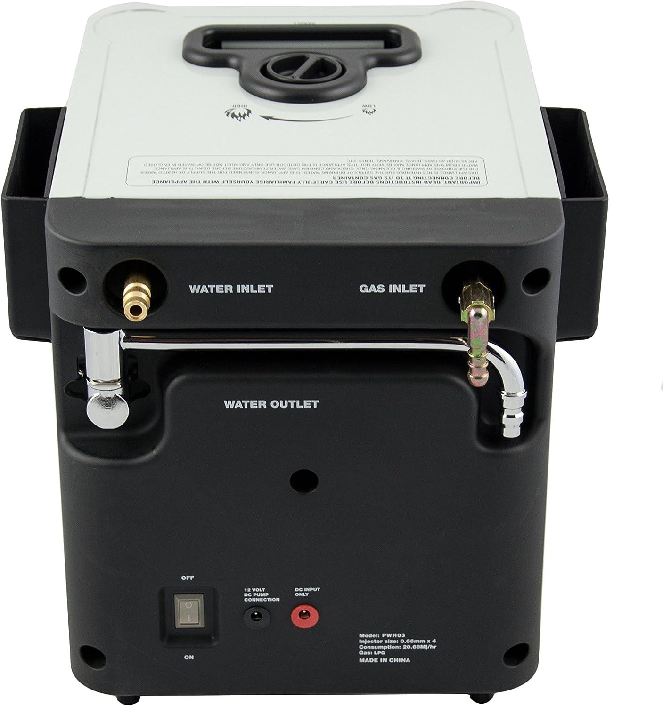NJ CH-01 - Calentador Geyser de agua portátil camping gas para exteriores