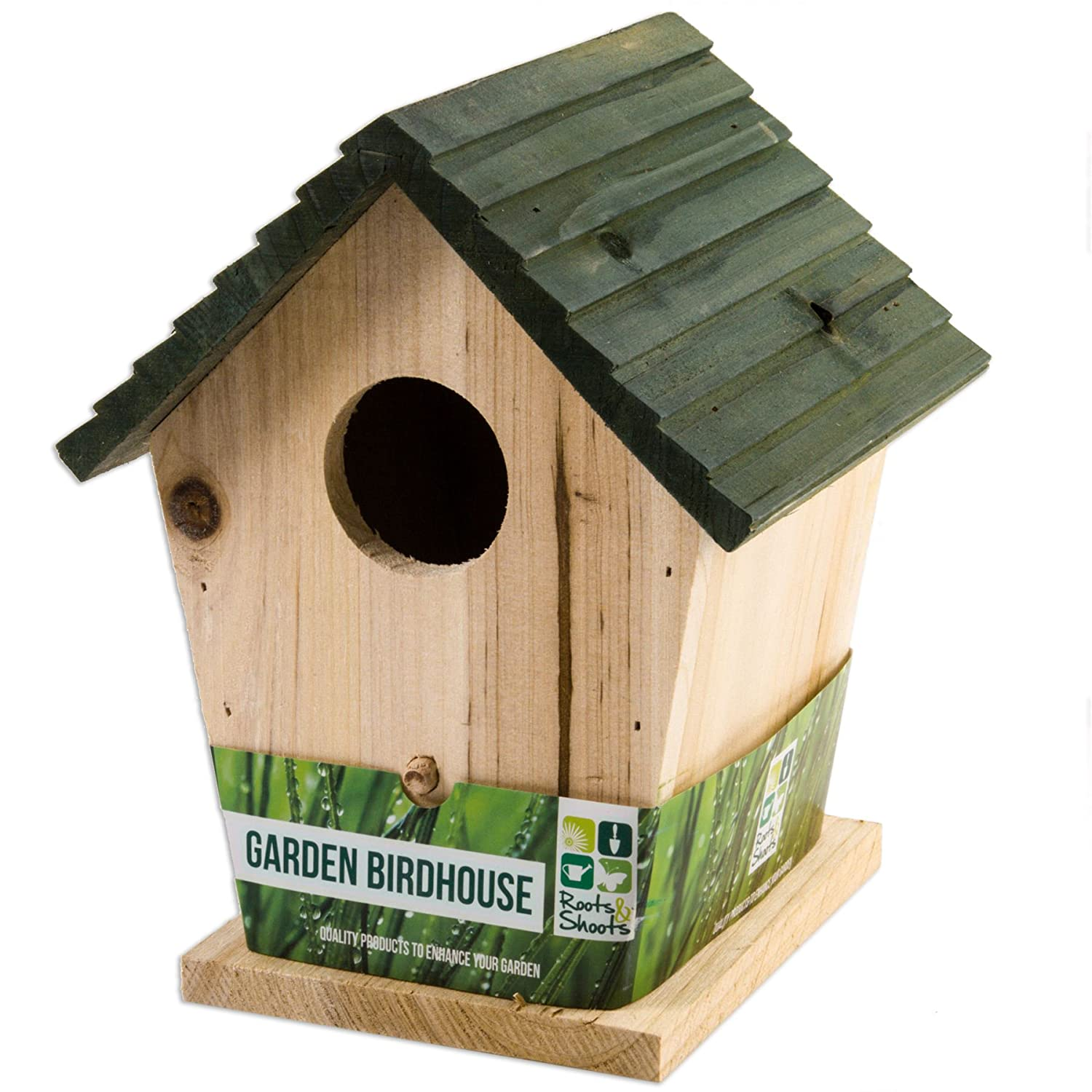 Large 25cm Wooden Bird House | Attract More Wildlife To Your Garden