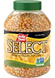Jolly Time Select Popcorn Kernels - Premium Yellow Non-GMO Popping Corn, 30-Ounce Jars (Pack of 6)
