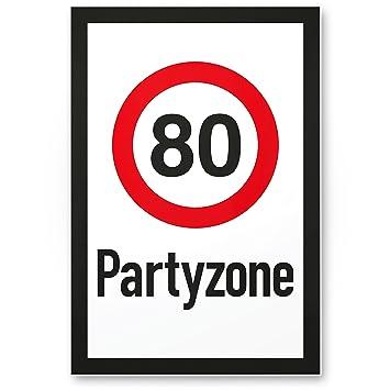Dankedir 80 Partyzone Kunststoff Schild Geschenk 80 Geburtstag