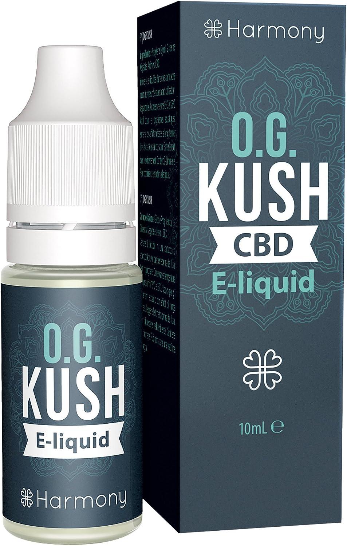Harmony E-líquido de CBD (más de 99% pureza) - Terpenos de OG Kush - 30 mg CBD en 10 ml - Sin Nicotina