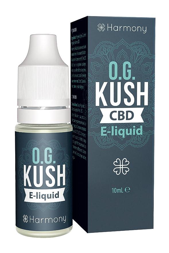 Harmony Elíquido de CBD (más de 99% pureza) - Terpenos de OG Kush - 100 mg CBD en 10 ml - Sin Nicotina