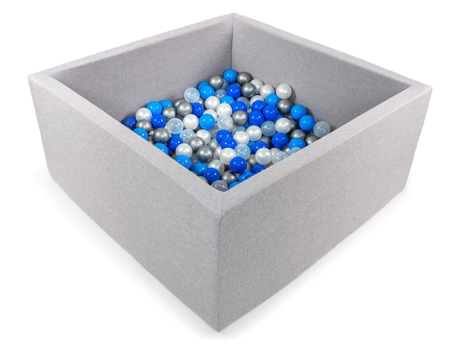 Tweepsy Soft Baby Ball Square Pool Pit 250 Balls 90x90x40cm Handmade EU - BKWZ1