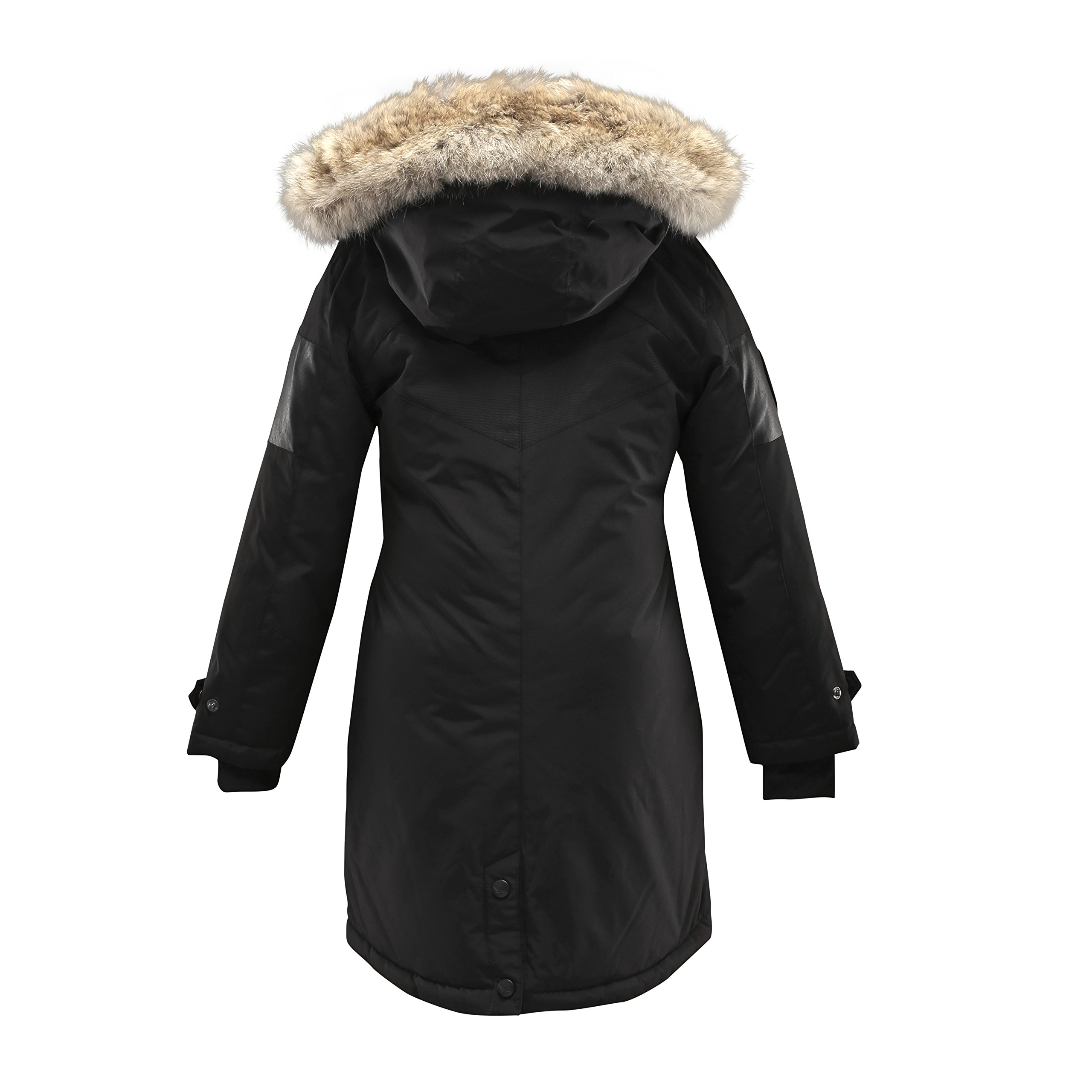 Triple F.A.T. Goose Embree Girls Down Jacket Parka with Real Coyote Fur (10, Black) by Triple F.A.T. Goose (Image #2)