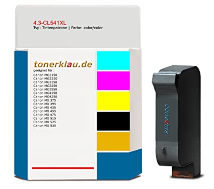 compatible Cartucho de tinta de 4.3 CL541 X L para: Canon MX ...