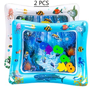 luck sea Tummy Time Inflatable Water Play Mat Playmat Sensory Activity Toy for Infant Toddlers Baby Girl/Boy 3-18 Months Old
