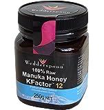 Wedderspoon Organic 100% Raw Manuka Honey Active 12+, 250Gms