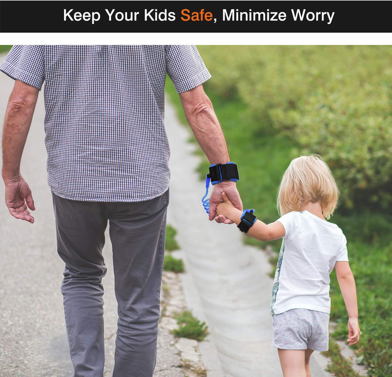 Wristband Leine Kind Outdoor Sicherheitsgurt Schnur f/ür Kinder und Kleinkinder 1.5M Blau Zooawa Anti Lost Handgelenk Leine