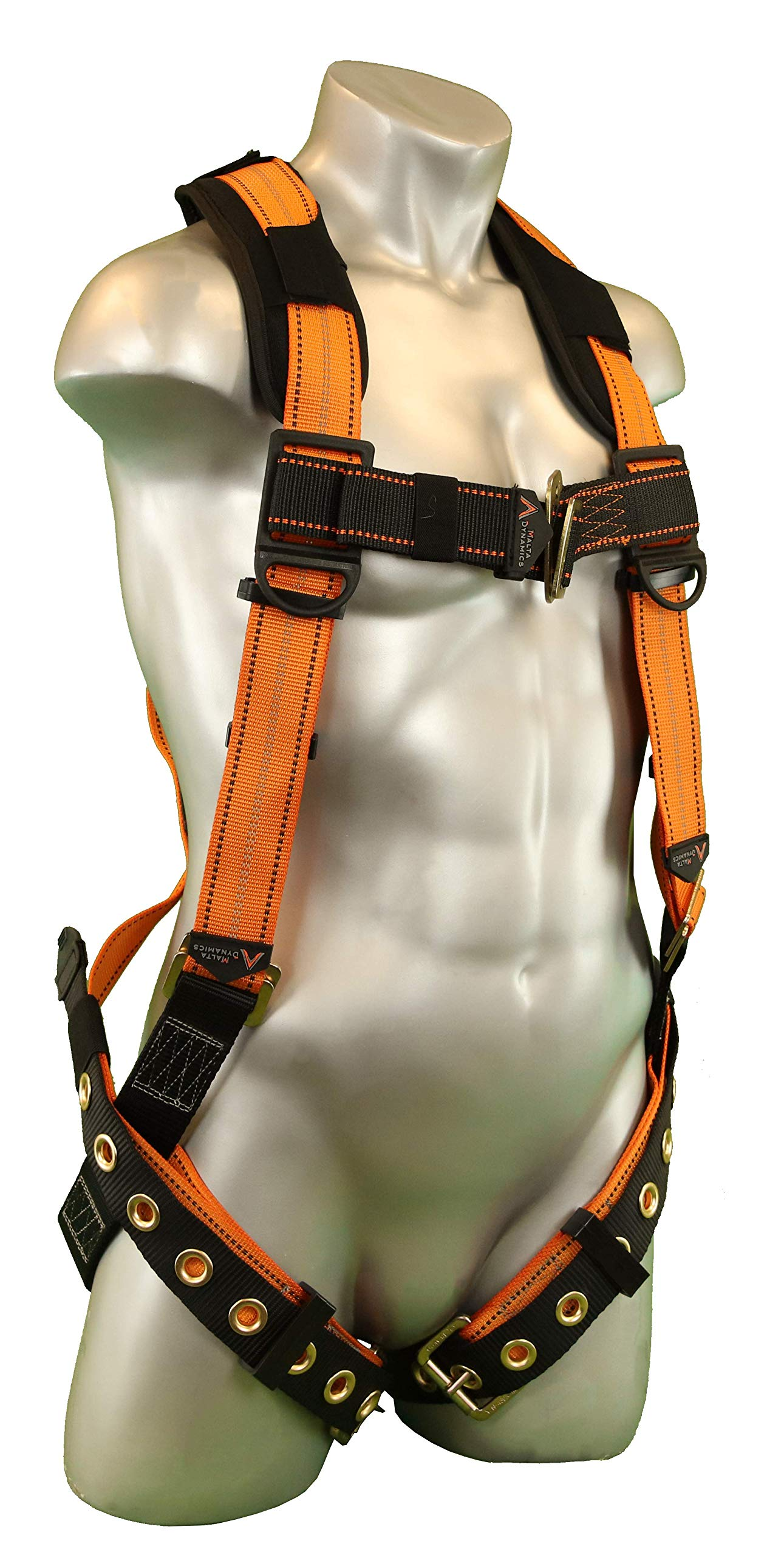 Warthog Full Body Harness with Tongue Buckle Legs & X-Pad (XS), OSHA/ANSI/CSA Compliant by Malta Dynamics